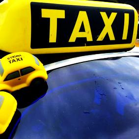 Stigma Taxi sign en StigmaTaxi Stresskevers